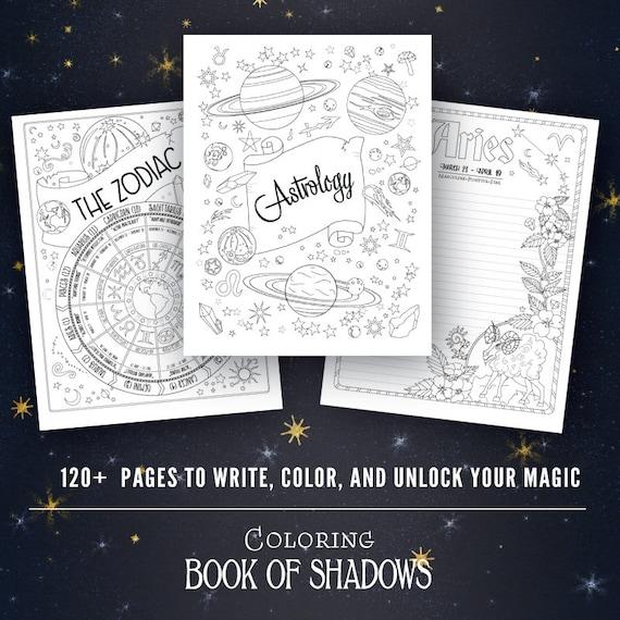 Coloring Book Of Shadows Vol 1 5 Printable Pdf Grimoire Etsy