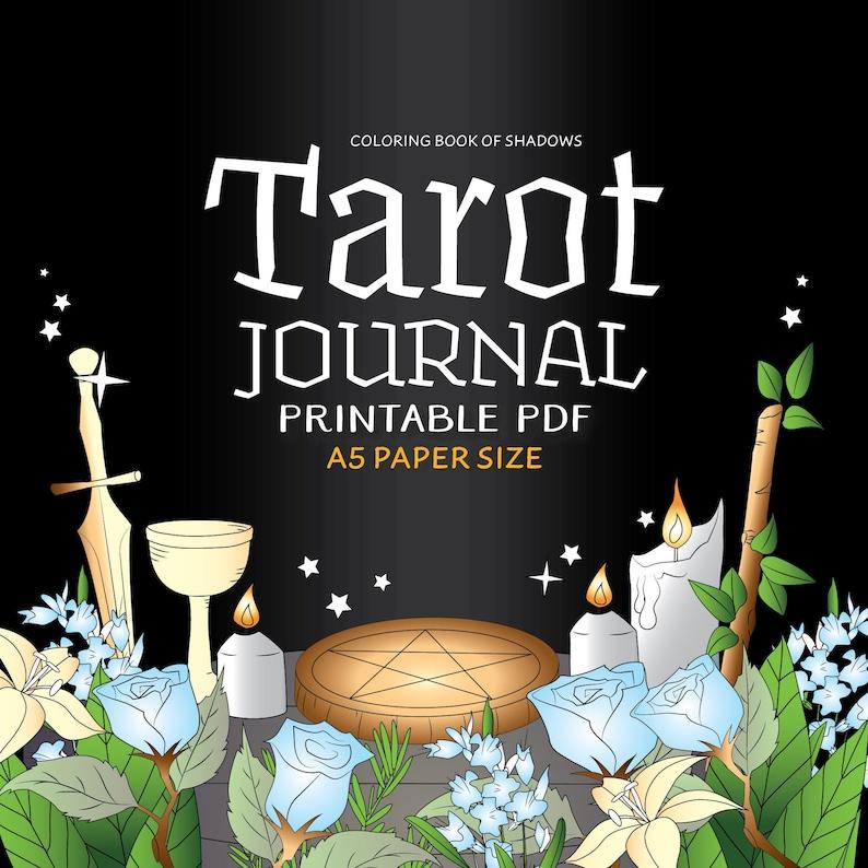 Coloring Book of Shadows: A5 Tarot Journal image 0