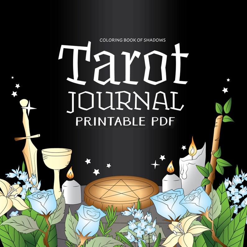 Coloring Book of Shadows: Tarot Journal image 0