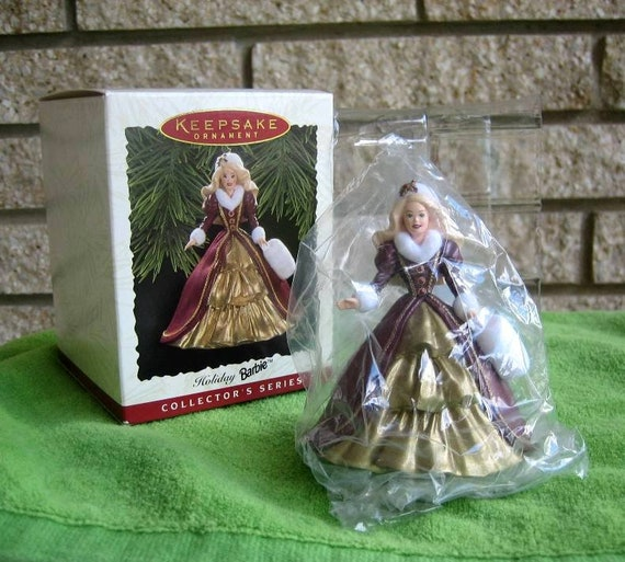 Barbie Christmas Ornament.Hallmark Keepsake Holiday Barbie Christmas Ornament 4th In Series 1996 New In Box Nib Vintage Barbie Christmas Ornament