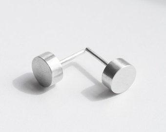 Disk earrings Circle earrings Contemporary jewelry Art jewelry Unusual earrings Geometric earrings Modern earrings Minimal jewelry for her