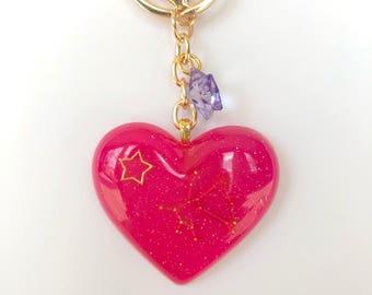Pink Constellation Keychain