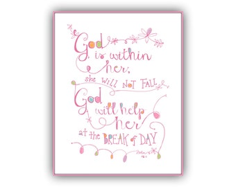 god is in her psalm printable bible verse