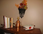 Mid Century Copper Grouping Decor Copper Colored Teapot Lamp Hammered Copper Book Holders Casserole Holders Plant Holders Vtg Lamps Copper