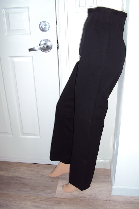 1960s Womens Black Jantzen Stretchy Pants Size S-M