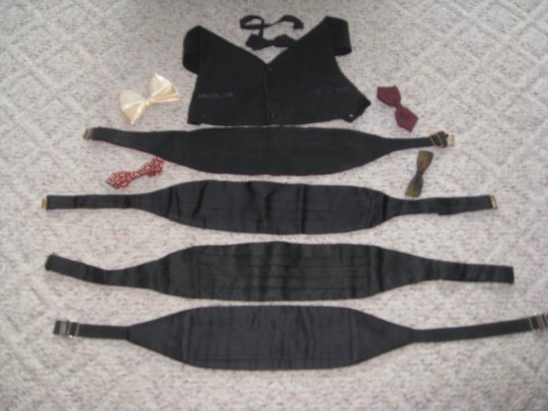 Mid Century Lot Of Mens Tuxedo Accessories/ 4 Black image 0