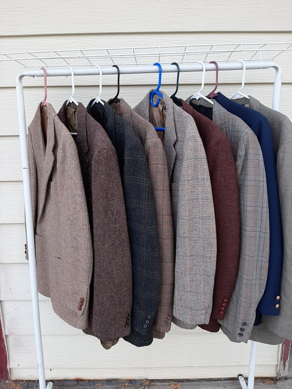 Vintage Lot Of  Mens Wool Sport Coats/Blazers/ Har