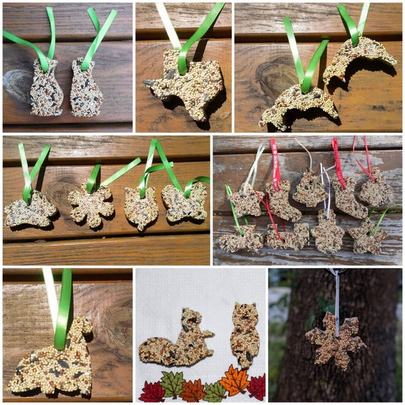 Wild Bird Seed Bird Feeder Ornaments  Set of 12  Make your