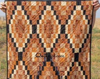 Diamondback - Awesome Geometric Lap quilt / wall hanging - perfect for men!