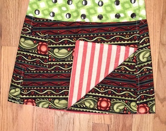 Li'l Skirts™ Extra-Small Isabella Skirt Reversible Wrap Skirt Ladies Extra-Small With Phone Pocket Adjustable size 7-12 Juniors