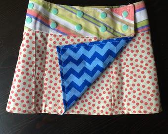 Li'l Skirts Toddler Vafara Skirt Reversible And Adjustable Wrap Skirt
