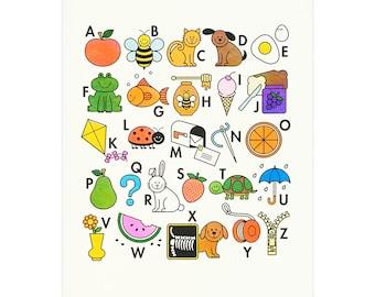 Alphabet Risograph Art Print