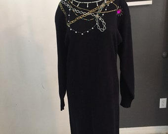 acab1e14f78 Plain jane ugly sweater dress size m