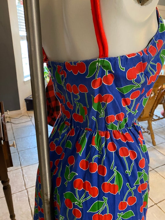 Vintage jenni cherries dress size 5/6 rockabilly - image 6