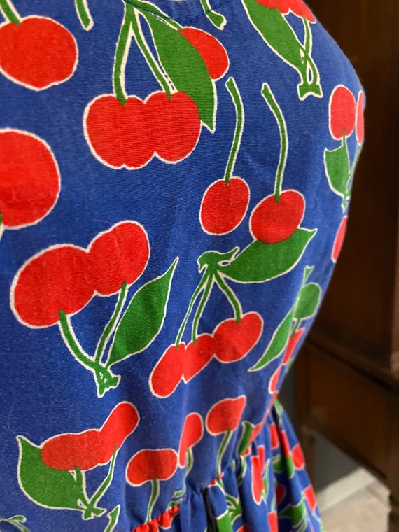 Vintage jenni cherries dress size 5/6 rockabilly - image 8