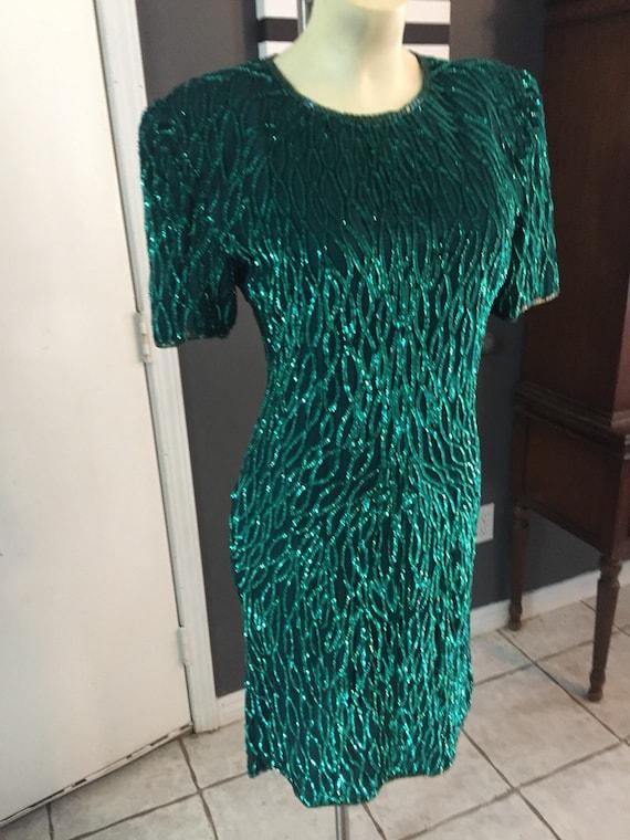 Vintage Laurence Kazar Sequined Dress