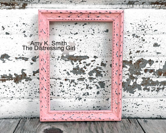"""Custom Picture Frame1 1//8/"""" Ornate Pastel PinkGreat for Photos"""