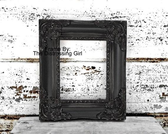8x10 Ornate Black Frame 8 x 10 Chunky Spessa Elaborata Immagine Cornice Grande Stile Antico Shabby Chic Vittoriano 8 per 10 Cornice W Vetro