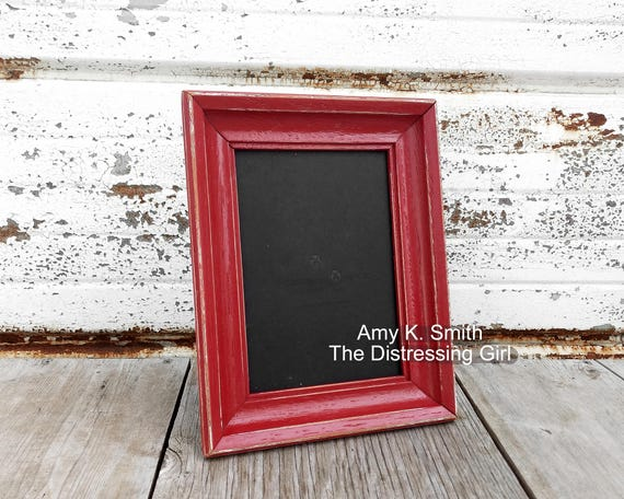 Ready To Ship Red 5 X 7 Picture Frame Heritage Red 5x7 Etsy