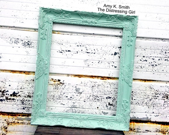 Chunky 16x20 Mint Green Ornate Picture Frame Victorian | Etsy