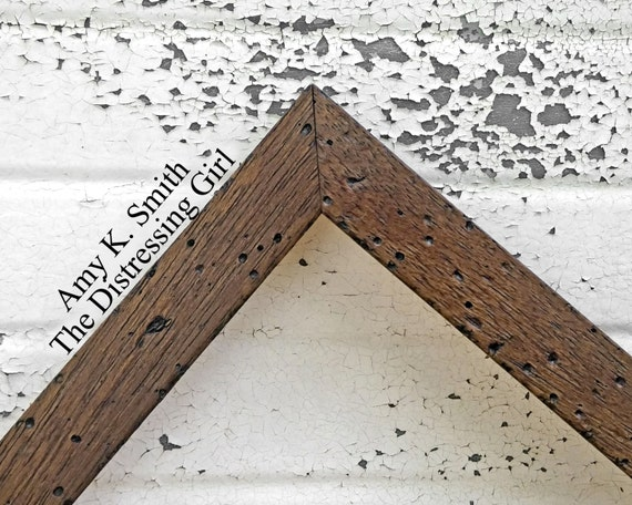 6x9 Picture Frame Dark Rustic Brown Custom Size 6 By 9 Barn Etsy