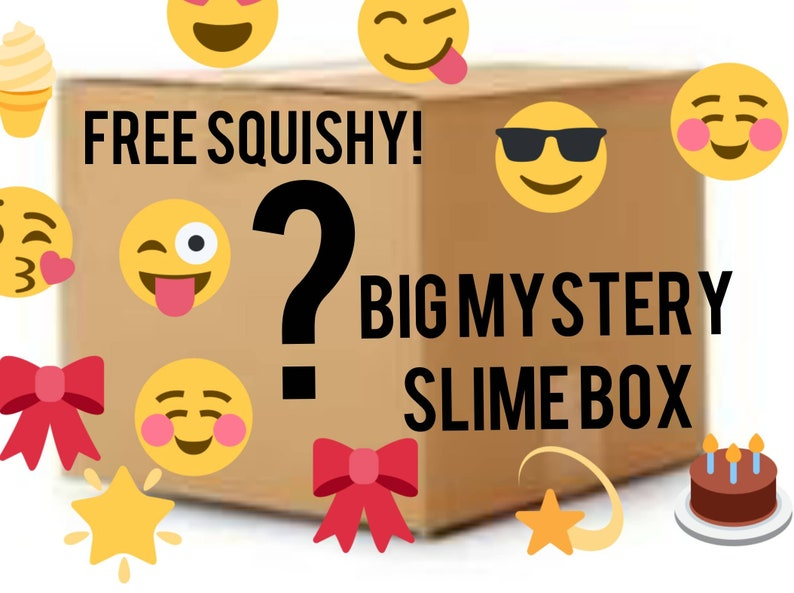 SLIME, BIG Slime box, with FREE Squishy, the best slimes, slime shops,  slime mystery box, cheap slimes, fluffy slime, view the shop, 3 slime