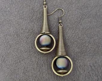 blackened textured stud earrings sterling silver stud earrings modernist silver square earrings brutalist cross earrings