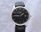 Vintage Mens Elegant Citizen Eco Drive Wristwatch