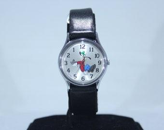 ce8e5f9b4f94 Vintage unisex de Walt Disney Goofy personaje Lorus reloj de cuarzo