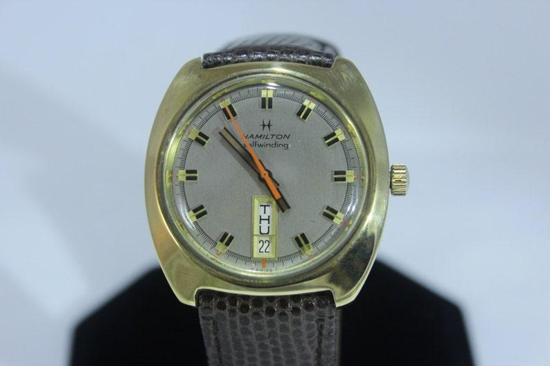 Vintage Hamilton 17j Mechanical Selfwinding Automatic Day Date Men Watch
