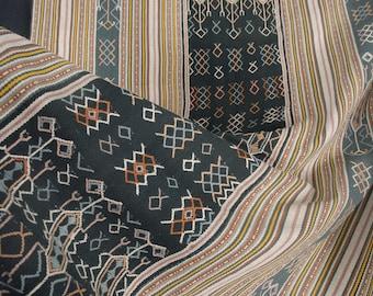 Timor handwoven cotton textile Indonesian hill tribe home decor boho runner Ayutupas buna natural vegetable dye ethnic tapestry CD16