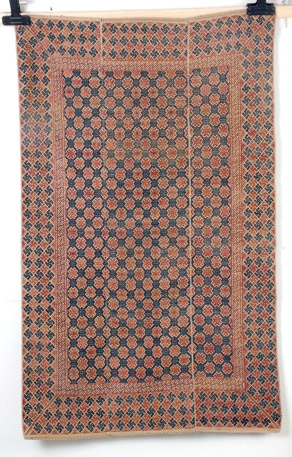 Jahrgang Miao Seide Baumwolle Tribal Textil Hochzeit Decke Etsy