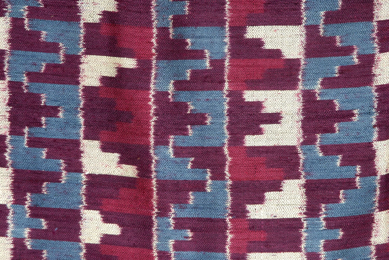 Ethnic Home Decor Purple Silk Ikat Fabric Ethnic Boho