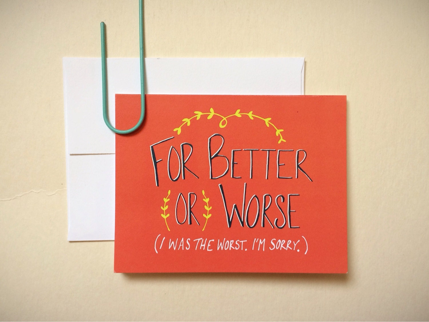 For Better Or Worse I Was The Worst Im Sorry Etsy