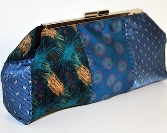 Clutch Purse made from Neck Ties, Purse, Upcycled
