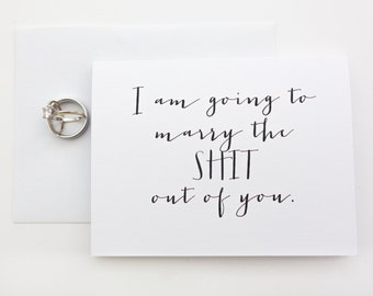 I am going to marry the shit out of you wedding day card / funny wedding card / newlywed card/ bride and groom stationary