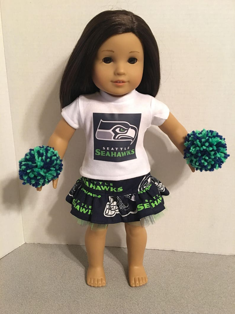 2bcea0de American Made 18 inch doll Clothes - Seattle Seahawks Cheerleader Outfit