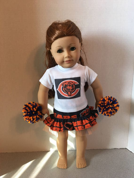 new concept 951d7 5bd6c American Made 18 inch doll Clothes - Chicago Bears Cheerleader Outfit
