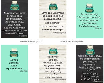 Typewriter Verse Cards