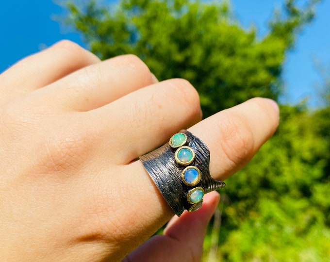The Opal Corset Ring Adjustable