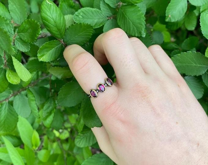Rhodolite Garnet Ring size 7