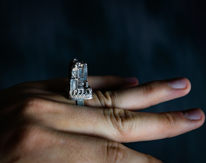 Bismuth City Scape Sting Ring size 8