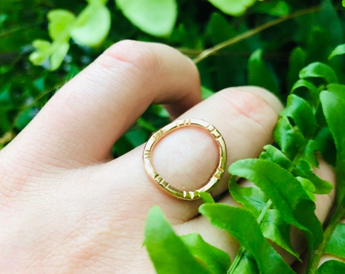 Gold filled / Silver O ring • All sizes avaliable • Etched O Ring • Gold O ring • gold circle ring • gifts for her