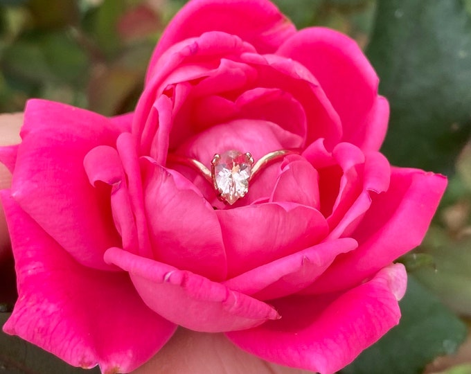 Morganite 14K Gold Engagement Ring • Size 6.5