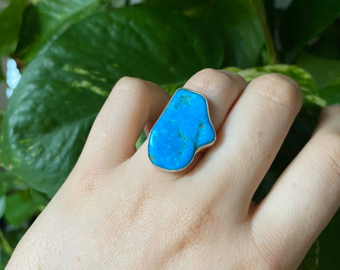 Free form Turquoise Ring size 6
