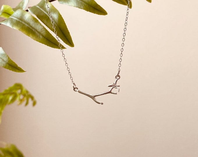 Branching Out • tree Branch necklace on sterling silver chain