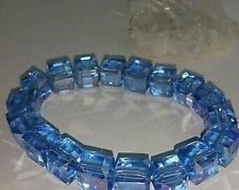 Gorgeous Swarovski Crystal Cube Stretch Bracelet