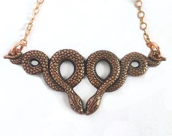 Uktena Copper Necklace Tsalagi Cherokee Made