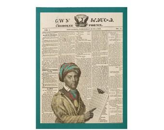 Sequoyah Wood Print Medium