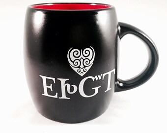 "Mug Cherokee ""I Love You"" - Black and Red Tsalagi Cherokee Designed"